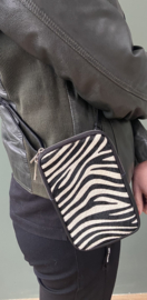 Zebraprint leren tasje