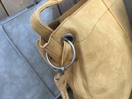 Gele craquelé bag in bag tas
