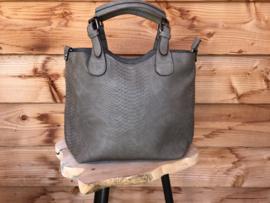 Taupe bag in bag tas