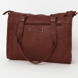 Bag2Bag Boston laptoptas Cognac