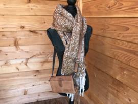 gemeleerde shawl met lovertjes