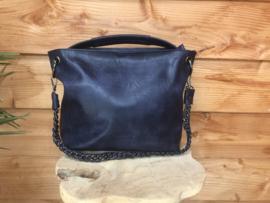 Donkerblauwe bag in bag tas