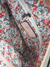 Roze bag in bag tas