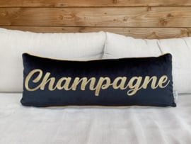 Velvet zwart sierkussen champagne