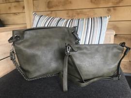 Bag in Bag tas donkergroen