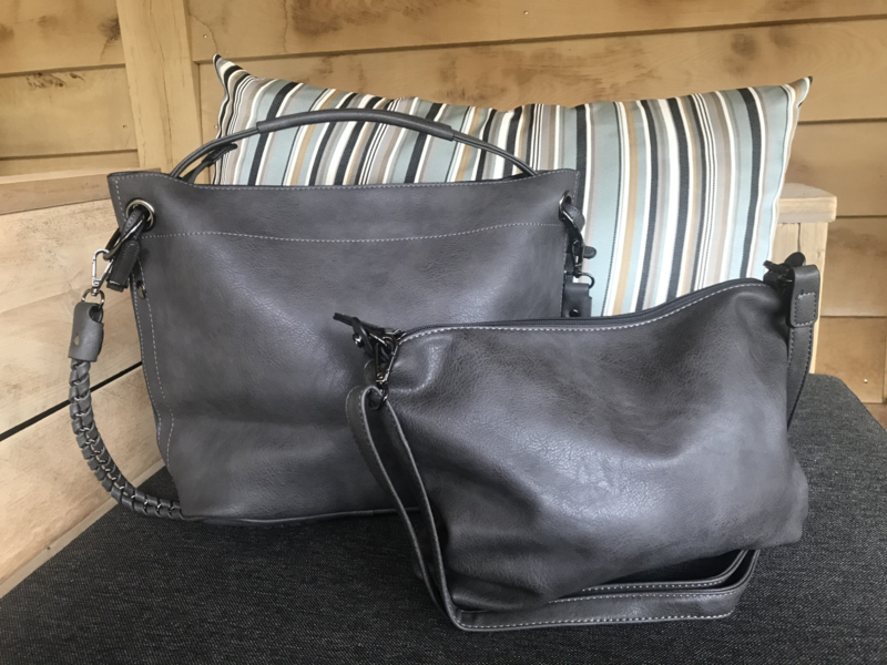 Bag in Bag tas donkergrijs
