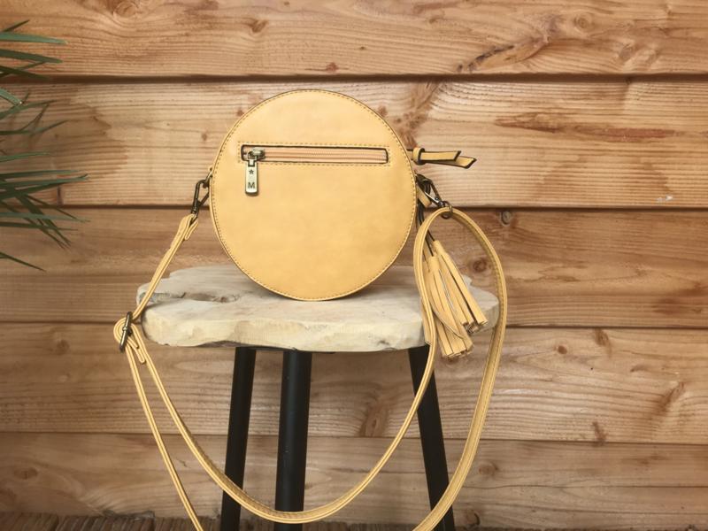 Ronde tas geel