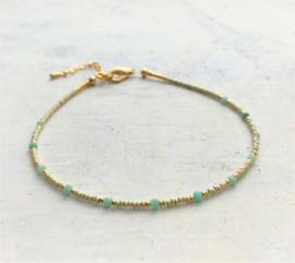 Enkelbandje Delicate Mint Jade