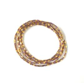 Wikkelarmband Gold plated & Lila