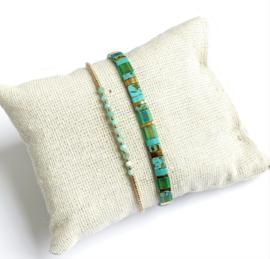 Amazonite &  Tila Bracelet