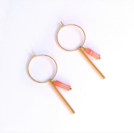 Hoops  Lines & Stones Pink