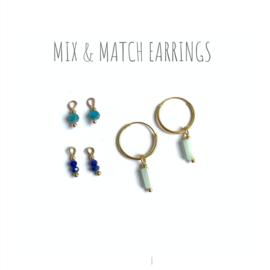 Mix & Match Gems vermeil Hoops