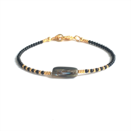 Armband Black Onyx  & Mother of Pearl
