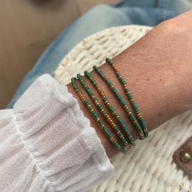 Wrapbracelet Green & Gold