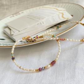 Pearl & Pink Bracelet Set