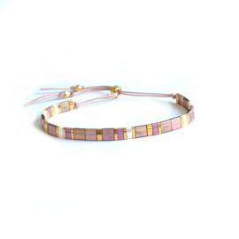 Tila Lila & Pink Armband