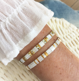 Tila Summer White set armbanden