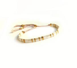 Tila Armband Summer White & Gold