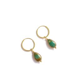 Vintage Jade vermeil Hoops