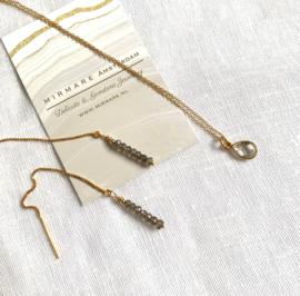 Delicate Labradorite Threaders