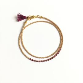 Edelsteen armband Granaat delicate