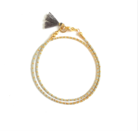 Armband Delicate Grey & Gold