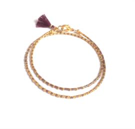 Armband  Delicate Lila & Gold