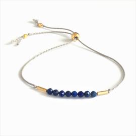 Silk & lapis Lazuli gems