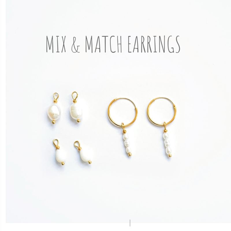 Mix & Match Pearl Oorbellen
