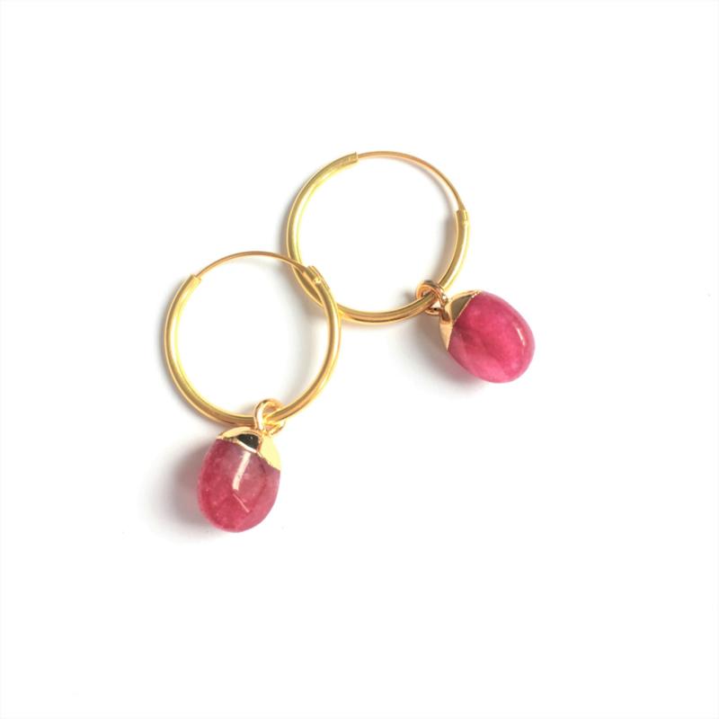 Fruity Pink vermeil Hoops