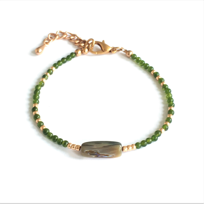 Armband Jade & Mother of Pearl