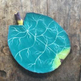 Houten bord lotusblad