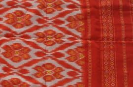 Ikat Strandhanddoek Oranje