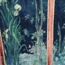handbeschilderde kamerscherm Tropical