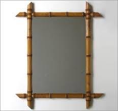Faux Bamboo spiegel VERKOCHT