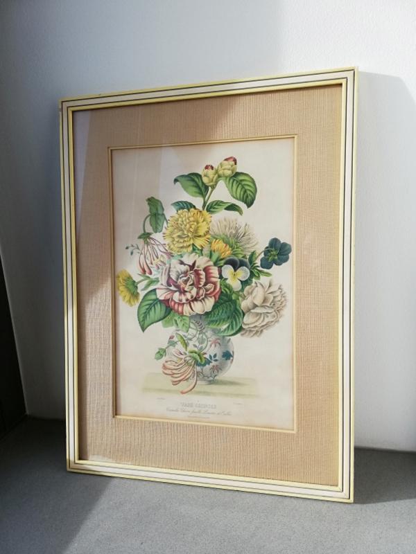 Vintage print Chinoiserie vaas met bloemen
