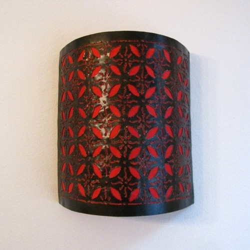 Oosterse Muurlamp Rood