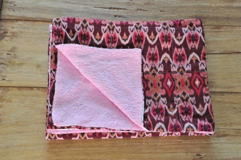 Ikat Kinderstrandhanddoek Roze