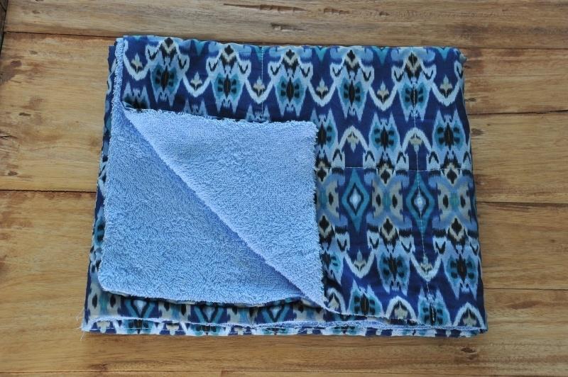 Ikat Kinderstrandhanddoek Blauw