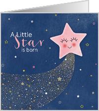 Felicitatie dochter roze ster