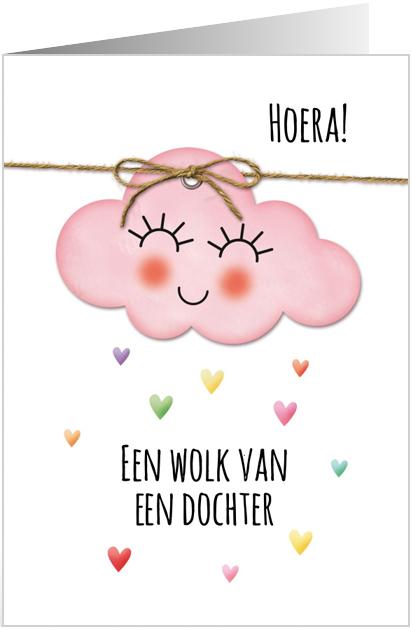 Een wolk van een dochter felicitatie wenskaart