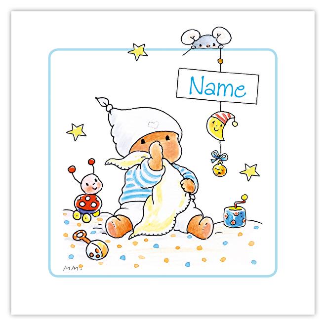 Geboortekaartje met naam voorkant