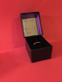 ,,Will I marry me?'' - ring