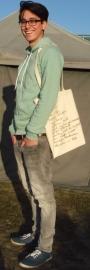 Tas met zeefdruk gevonden boodschappenlijstje