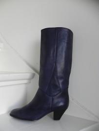 Babouche hoge donkerblauwe boots (2134)