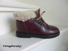 Vintage lams bont veter boots (2288)