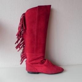 Rode vintage indianen laarzen (nr. 1368)