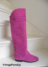 Overknee designers laarzen pink (2212)