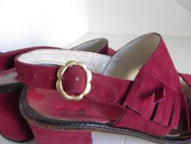 Cute Seventies rode sandalette (2502)