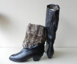 Baldinini konijnen bont vintage laarzen (nr. 1408)